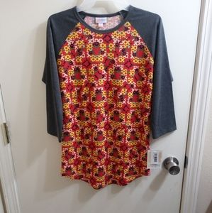 Lularoe Randy tee shirt, raglan sleeves